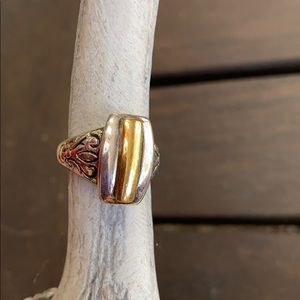 Premier Designs Ring.  Gold and silver tone.